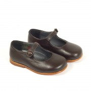 MARY JANES LEATHER BROWN